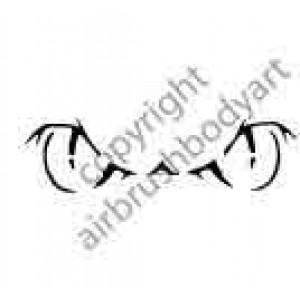 0292 eyes reusable stencil